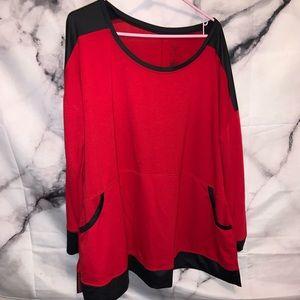 Black & Red Active hoodie